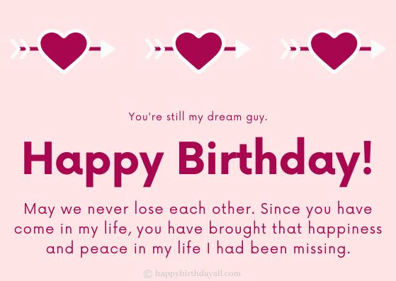 Sweet Happy Birthday Greetings for Boyfriend