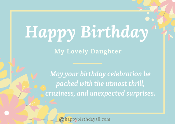 Emotional Birthday Wishes for Daughter