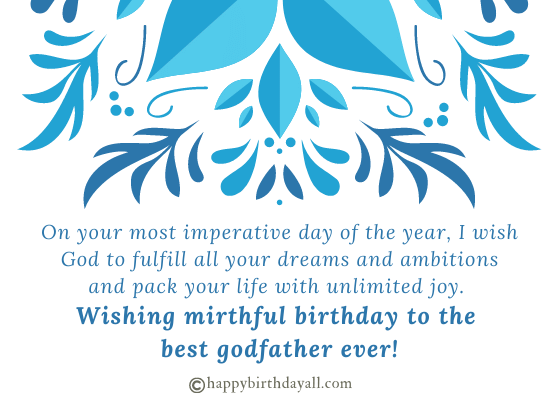 Happy Birthday Messages for Godfather