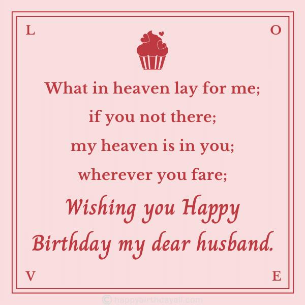 Happy Birthday Poems for Husband