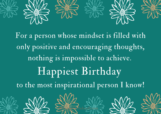 Happy Birthday Wishes for Inspirational Person