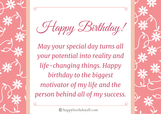 Happy Birthday Wishes for Someone You Admire