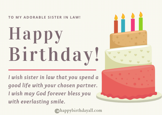 Religious Birthday Wishes for Sister in Law