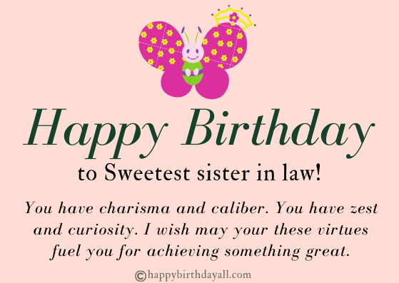Heart Touching Birthday Wishes for Sister in Law