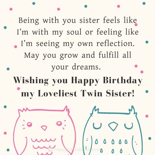 Happy Birthday Wishes for Twin Sisters