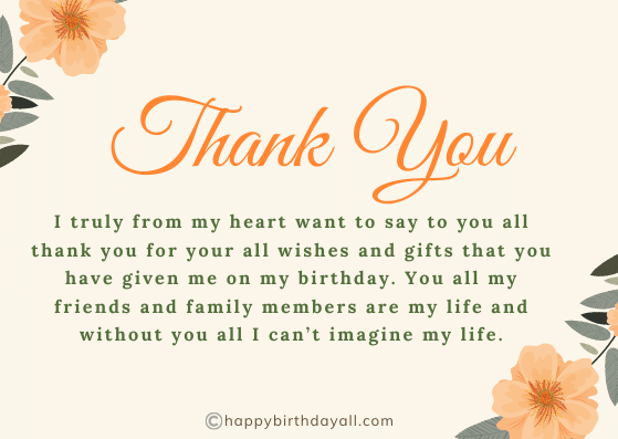 Best Birthday Wishes Reply for Family and Friends