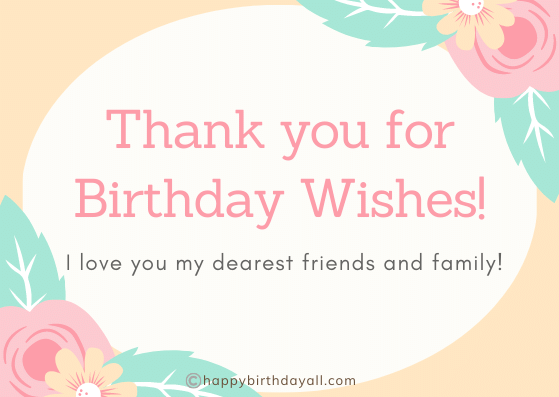 Emotional Thank You Message for Birthday Greetings