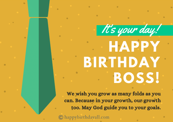 Birthday Wishes for Male Boss