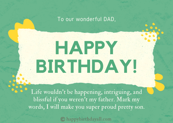Inspirational Birthday Messages for Dad