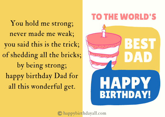 Happy Birthday Poems for Dad