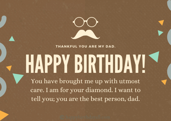Heart Touching Birthday Wishes for Father from Daughter