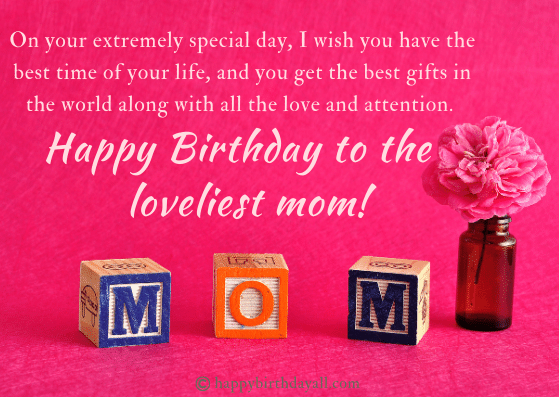Best Birthday Wishes for Mother from son
