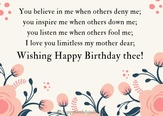 Happy Birthday Poems/Prayer for Mom