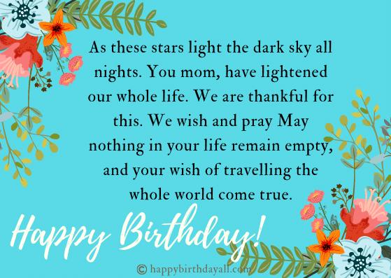 Happy Birthday Greetings for Mom