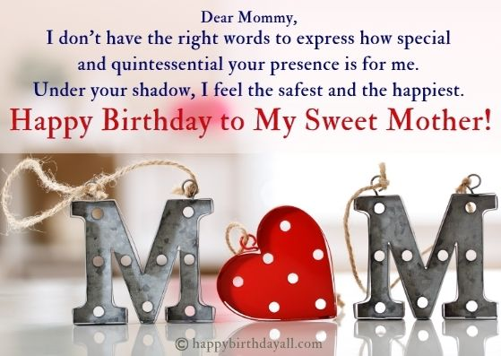 Heart Touching Deep Birthday wishes for mom from daughter