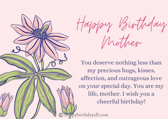 Heart Touching Birthday Wishes for Mother