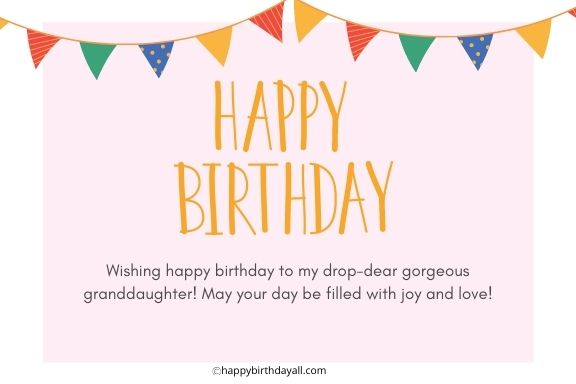Birthday Wishes For Granddaughter From Grandma