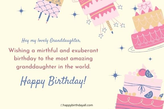 Happy Birthday Wishes for Granddaughter for facebook