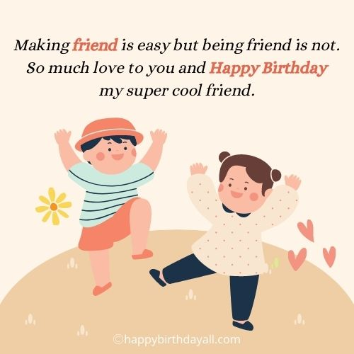 Emotional Happy birthday quotes for Best friend