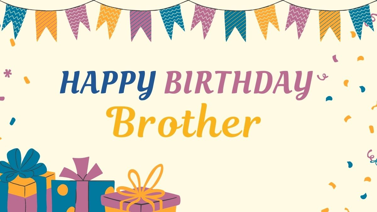 Sweet Happy Birthday Brother Images | Happy Birthday Brother Gif Free Download